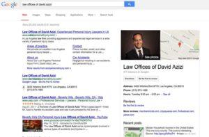 باکس بیزینس یک وکیل در نتایج جستجو گوگل
