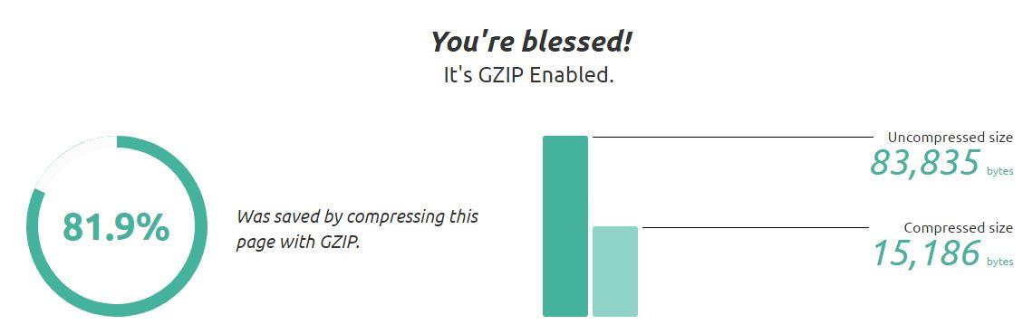 check gzip compression