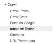 Webmasters ccount robots.txt