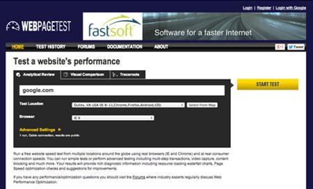 ابزار آنلاین سئو جهت تست سرعت سایت