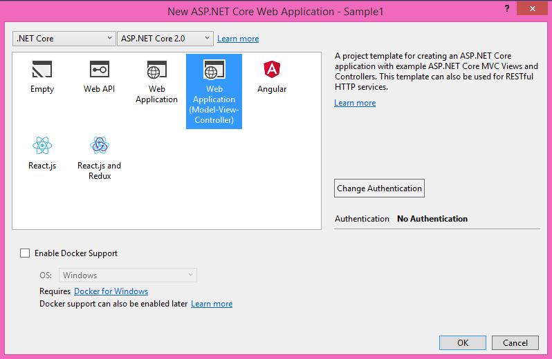 الگوهای پروژه ASP.NET Core در Visual Studio 2017