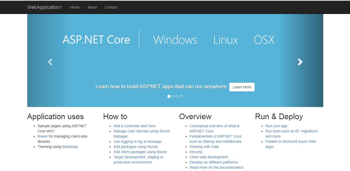 اجرای پروژه ASP.NET Core MVC