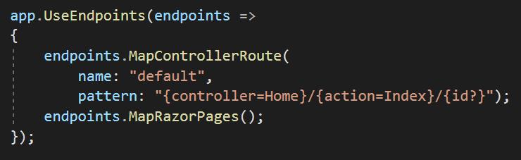تنظیمات مسیریابی در asp.net core 3.0