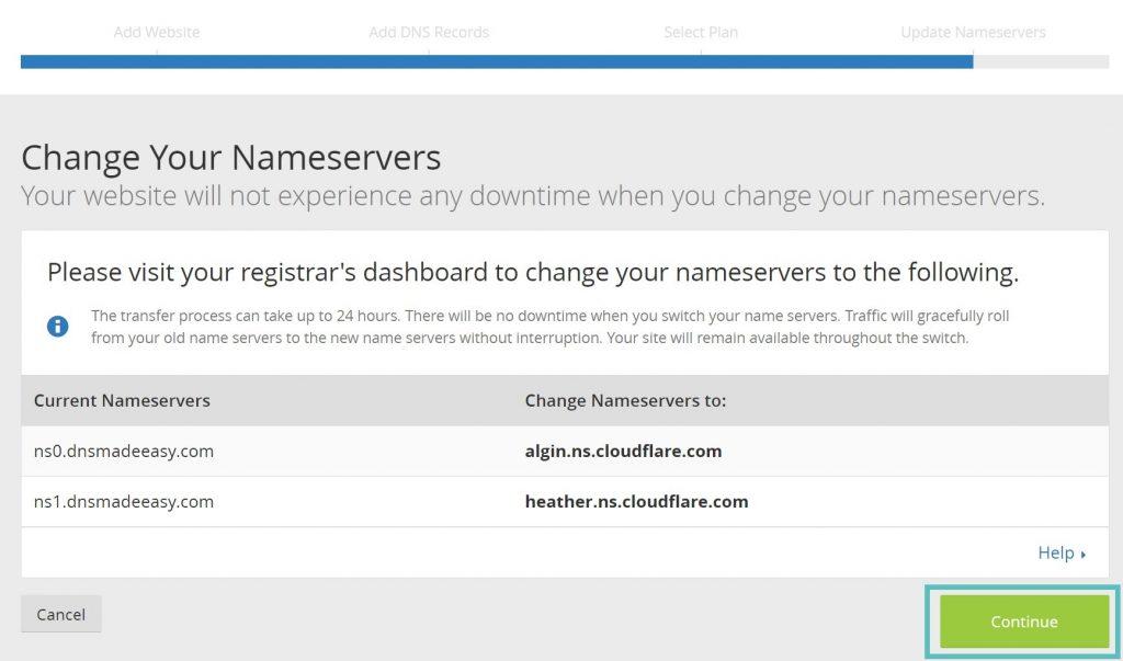 تنظیمات NameServers در CloudFlare
