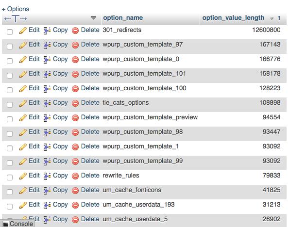 مرتب سازی لیست 10 داده پر مصرف autoload