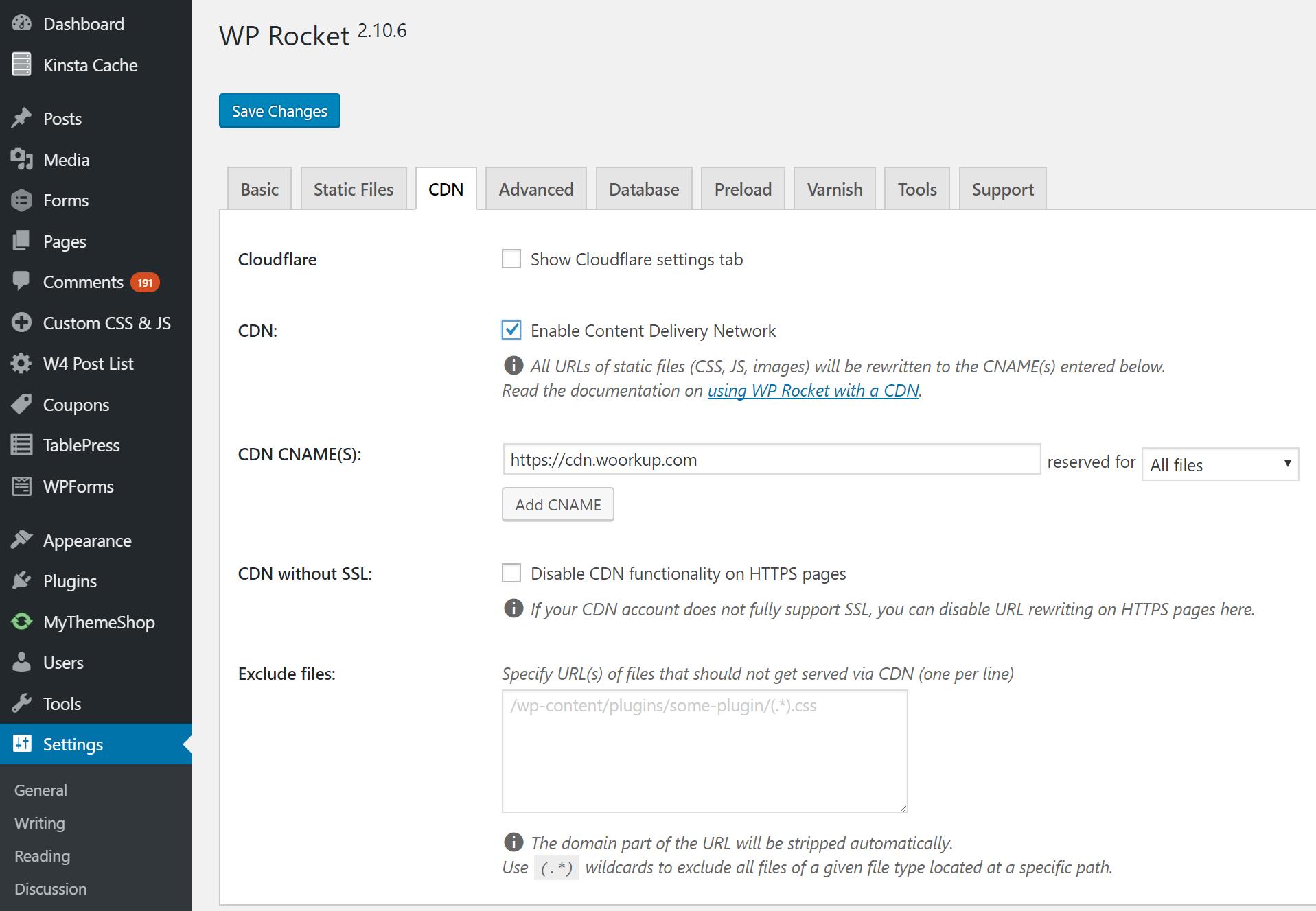 ادغام CDN با وردپرس از طریق افزونه WP Rocket