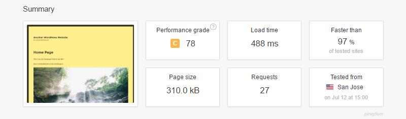 نتیجه استفاده از افزونه a3 lazy load