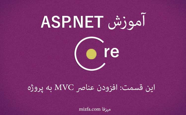 افزودن عناصر پروژهی MVC