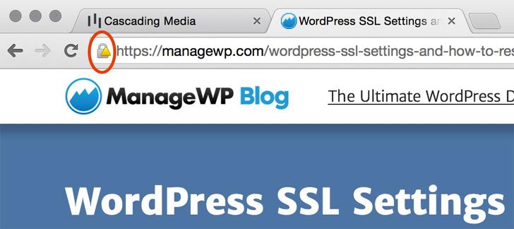 مشکل در یک وب سایت وردپرسی