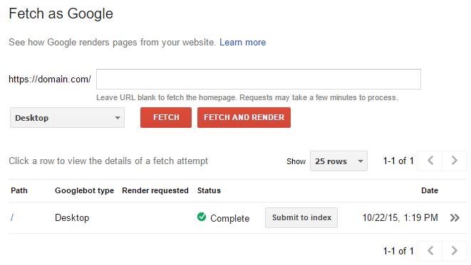 ابزار Fetch گوگل