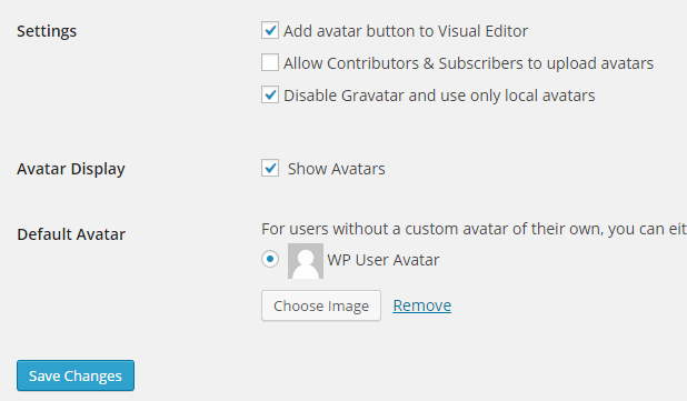 افزونه wp user avatar