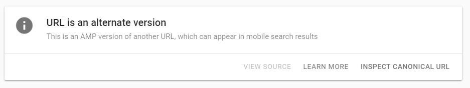 URL is an alt version