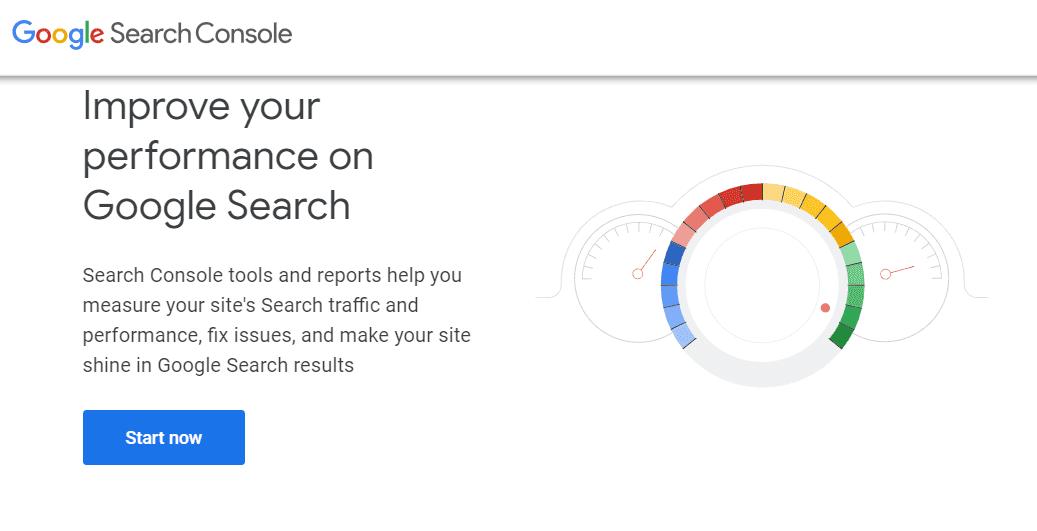 صفحه اصلی ابزار سرچ کنسول گوگل