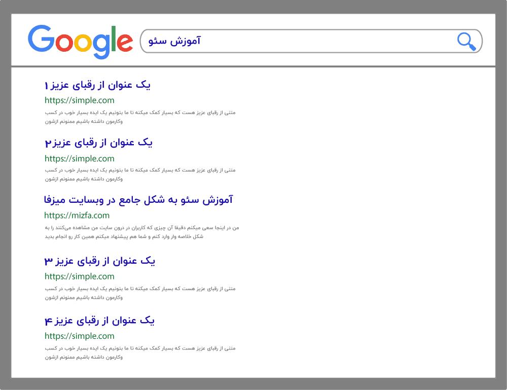 رقیب در نتایج گوگل یک نعمت است