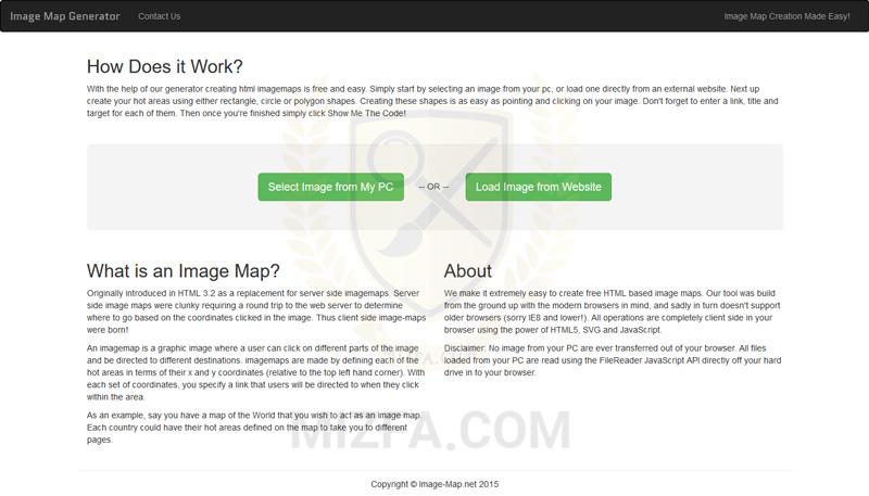وب سایت image-map.net برای ایجاد تگ map راحت تر