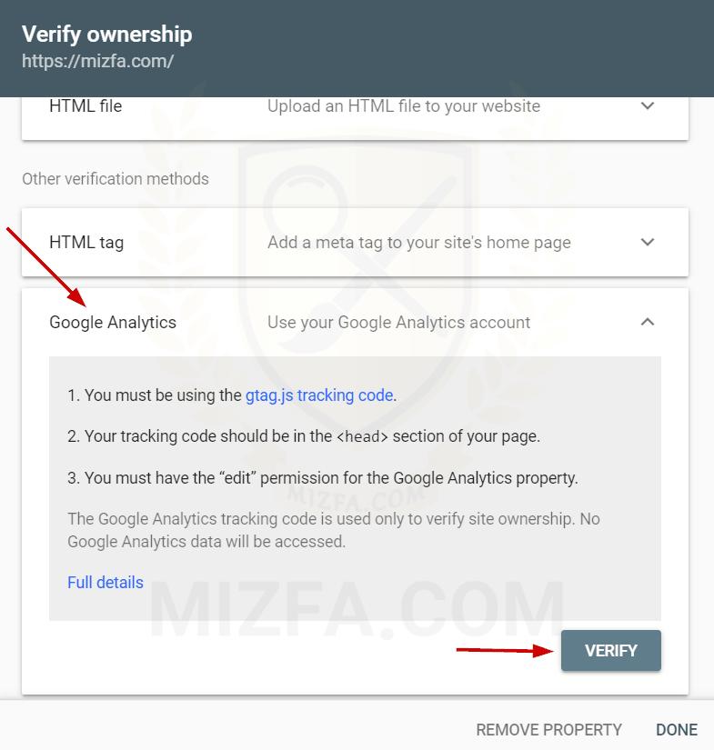 نصب سایت به کمک Google Analytics در سرچ کنسول