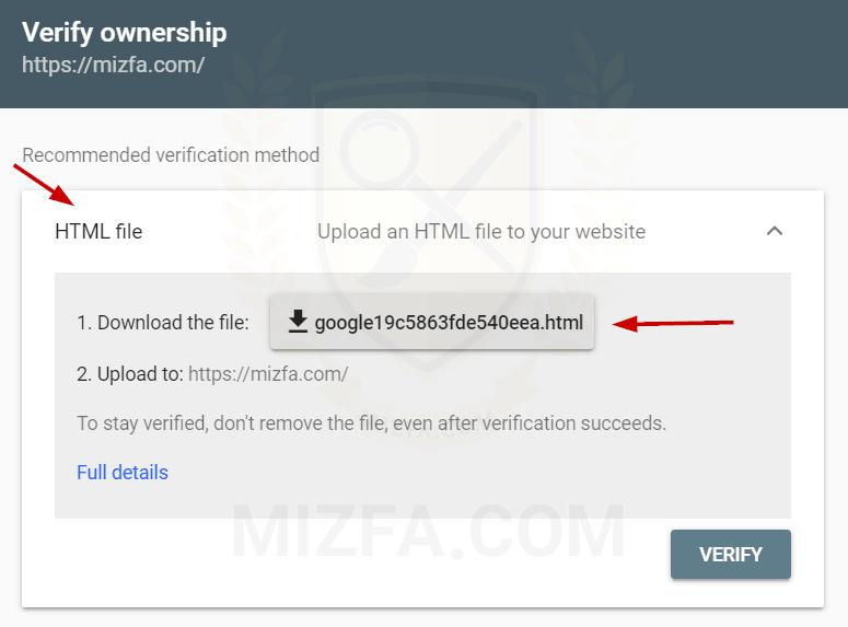 نصب دامنه با روش HTML file در سرچ کنسول