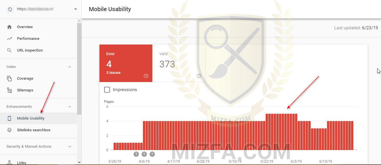 Mobile Usability در سرچ کنسول