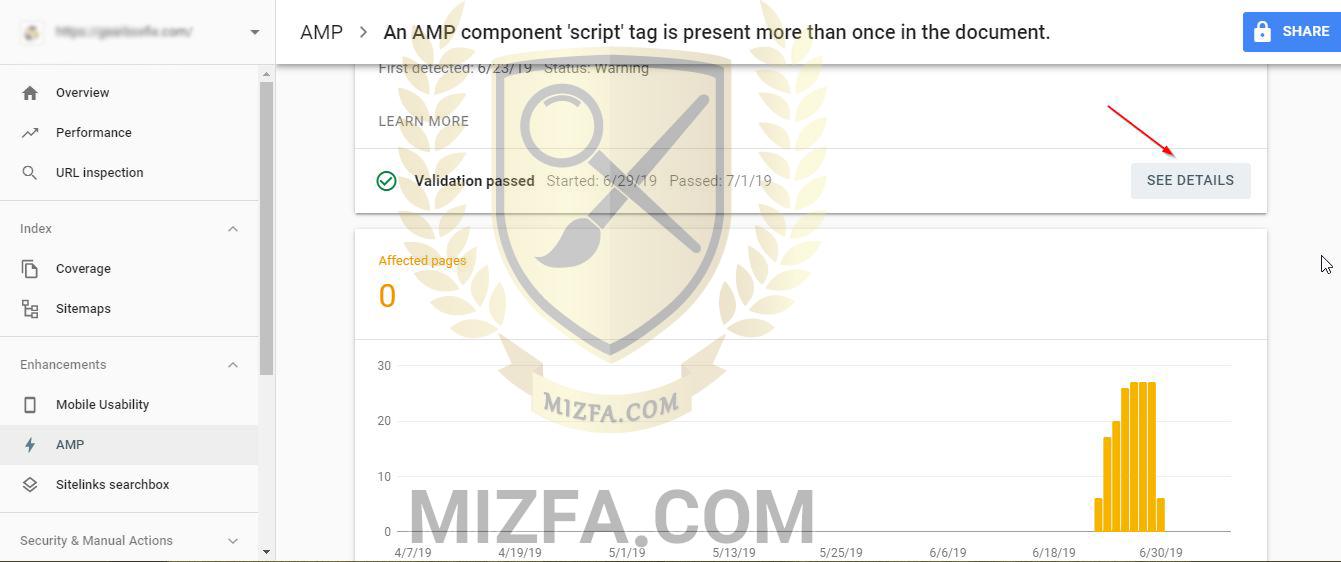 AMP در سرچ کنسول