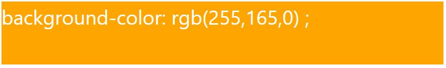 کد رنگ نارنجی با استفاده از RGB