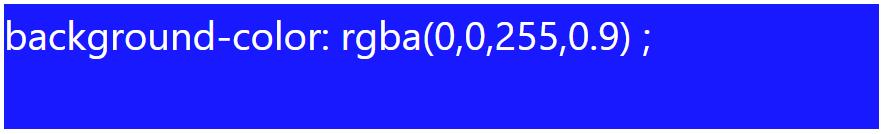 رنگ آبی با alpha برابر ۰.۹ با rgba