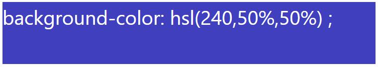 کد رنگ آبی با استفاده از HSL