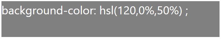 کد رنگ طوسی با استفاده از HSL