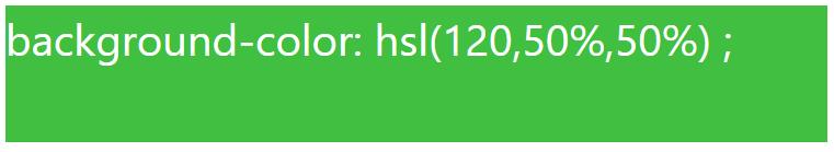 کد رنگ سبز با استفاده از HSL