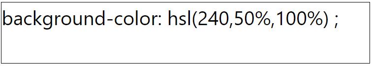 کد رنگ سفید با استفاده از HSL