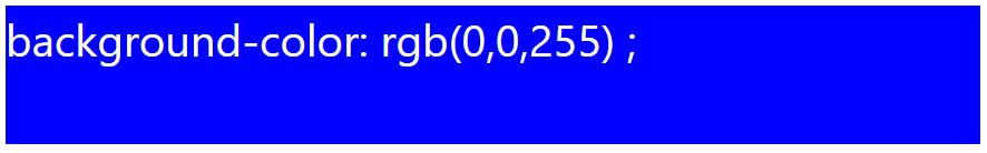 کد رنگ آبی با استفاده از RGB