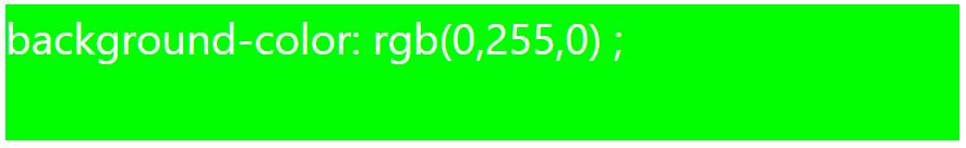 کد رنگ سبز با استفاده از RGB