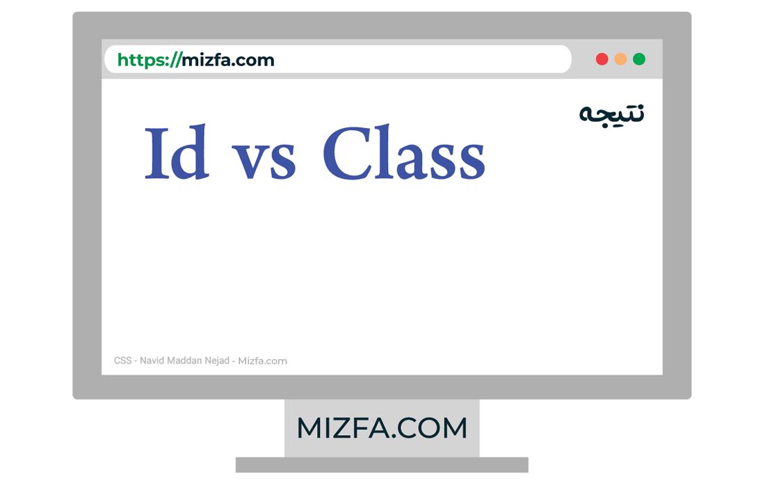 نتیجه کد id vs class