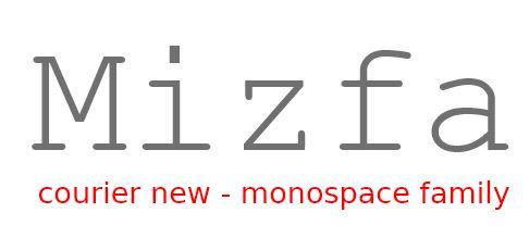 خانواده فونت monospace