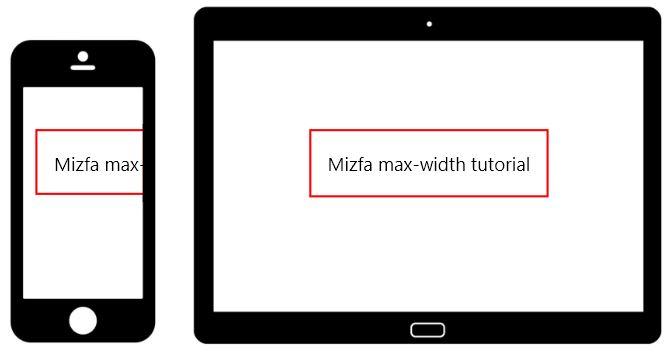 نمونه استفاده نشده از max width