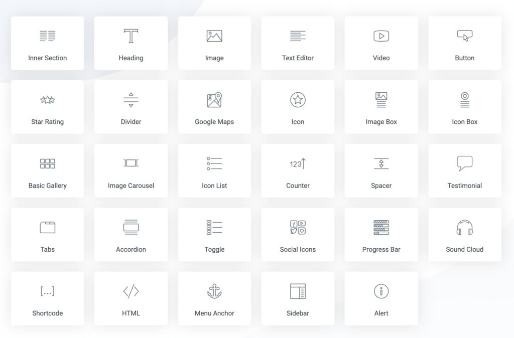 Elementor-widgets