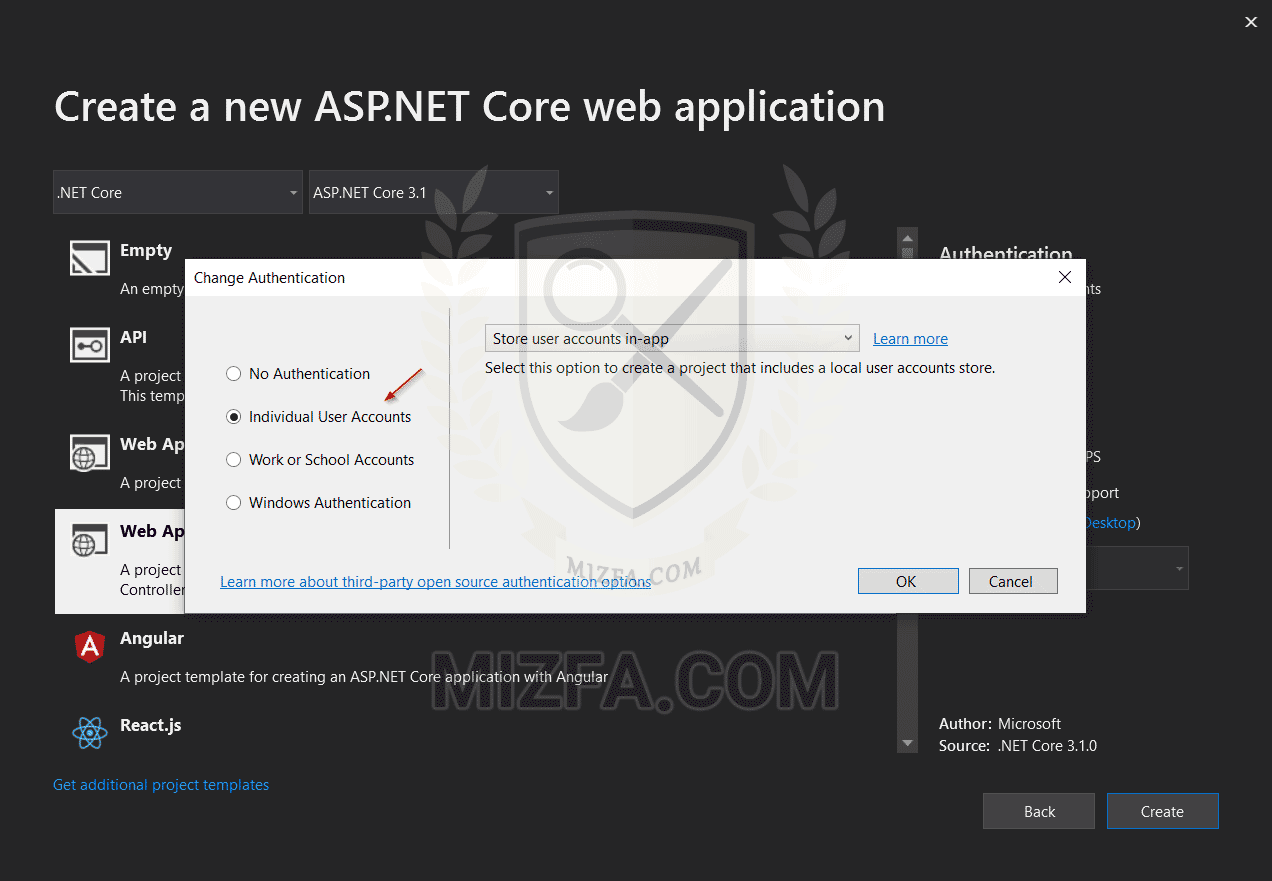 افزودن مدیریت کاربران به پروژه ASP.NET Core