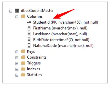 کلید اصلی (primary key) در جدول