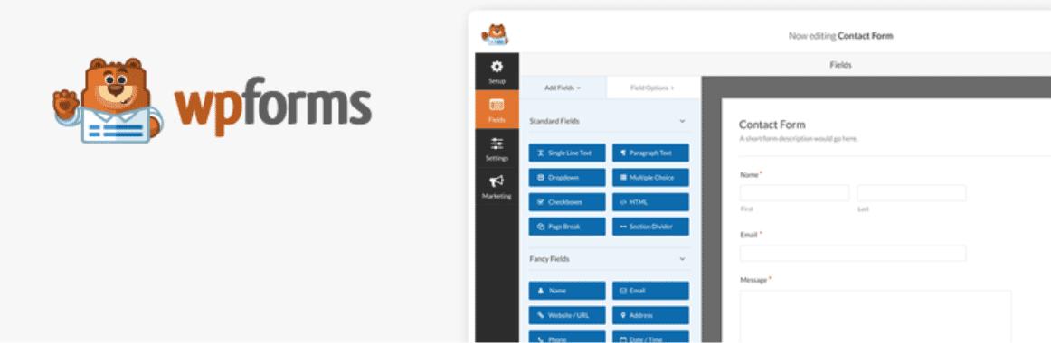 wpforms یکی از بهترین فرم سازهای وردپرس
