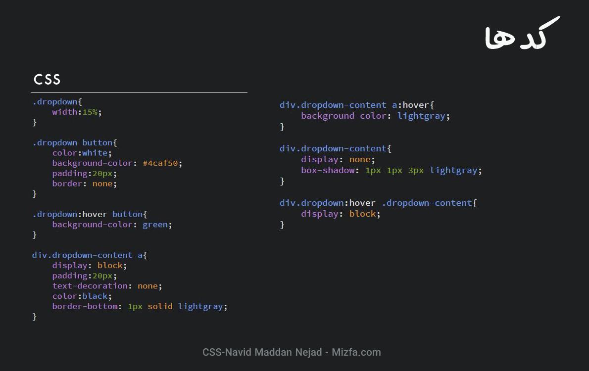کد CSS