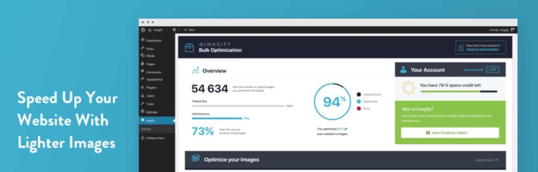 imagify یکی از بهترین افزونه بهینه سازی تصاویر وردپرس