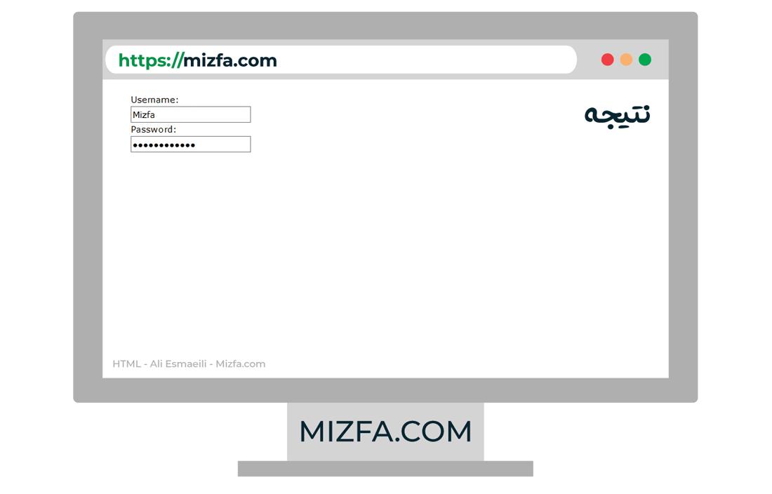 فیلد از نوع رمز عبور