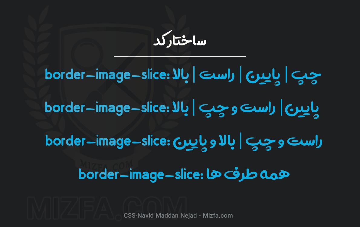 نحوه نوشتار border-image-slice