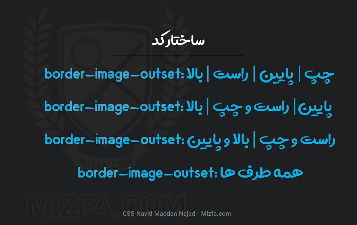 نحوه نوشتار border-image-outset