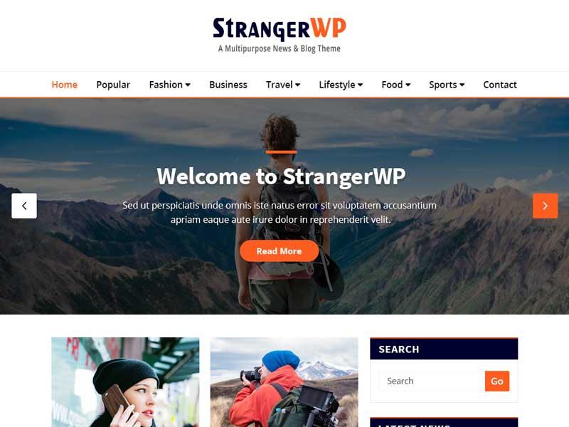 StrangerWP قالب چند زبانه