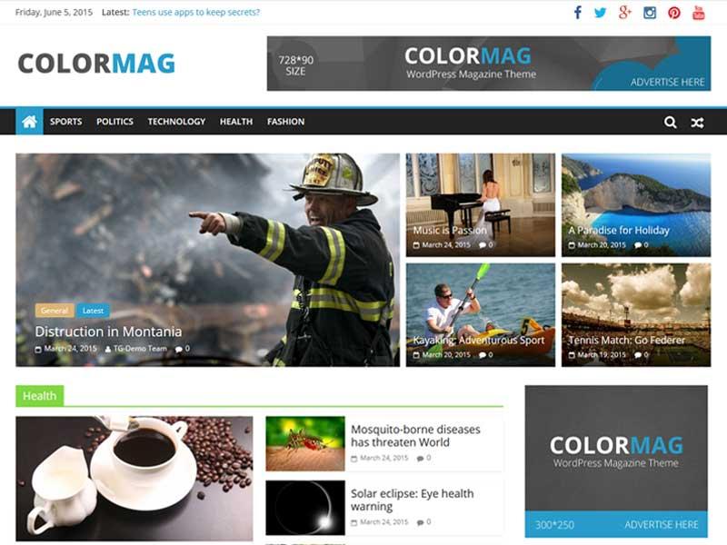 ColorMag بهترین قالب رایگان مجله خبری