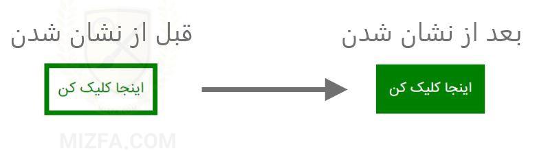 مرحله نهایی طراحی دکمه