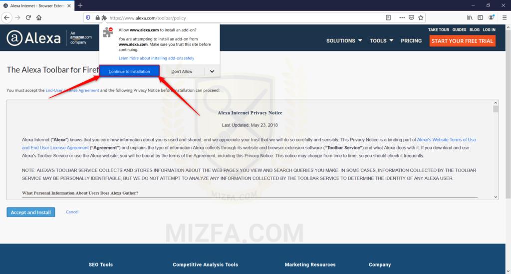 آموزش نصب افزونه الکسا برای مرورگر فایرفاکس
