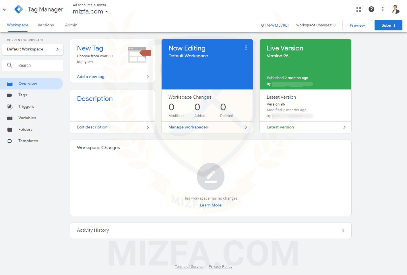 محیطی از ابزار gtm برای تحلیل و بررسی سایت خود