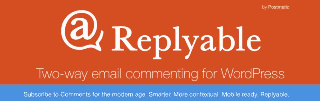 replyable افزونه ارسال ایمیل اعلان نظرات