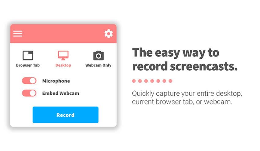 ضبط دسکتاپ screencastify